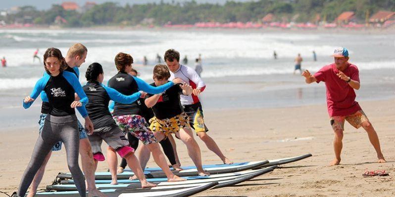 Surfing Lessons at Tropik Lombok